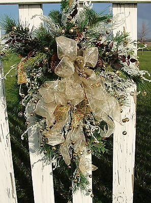Jingle Bell Christmas Sheath Swag Door Cemetery Gift Items Home Wall Decoration
