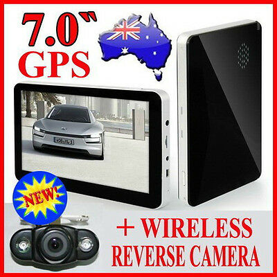 "Lasted 2016 7""GPS HD Car Navigation+Wireless Reverse Camera(New iPhone Shape)"