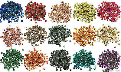 Loose Metal Studs lot of Hot Fix Iron on 4mm, 15 Colors to choose from