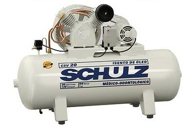 Schulz Air Compressor - 3Hp 60 Gallon Tank - Oil Free