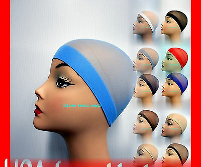 woman lady girl fashion Beanie Costume dust stocking wig cap Hat Weave Weft 2pc