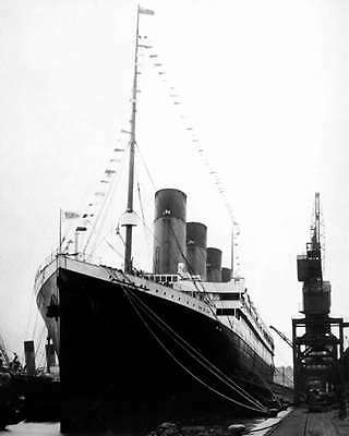 Rms Titanic Before Departing Southampton 8X10 Photo