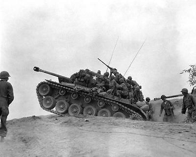 M-26 Tank Manned By 9Th Infaltry 8X10 Photo Korean War