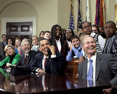 ZY-535 PRESIDENT BARACK OBAMA MEETS w// MY BROTHER/'S KEEPER MENTEES  8X10 PHOTO