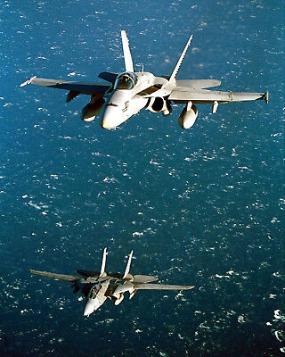 F/a-18 Hornet And F-14 Tomcat Navy Jets 8X10 Photo