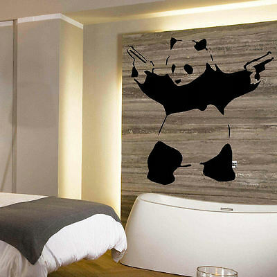Large Banksy Panda Wall Art  Mural Stencil Sticker Transfer High Quality Vinyl