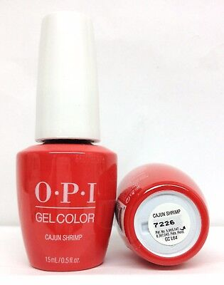 New Package Soak Off Gelcolor - opi CAJUN SHRIMP ** GC L64  .5oz **