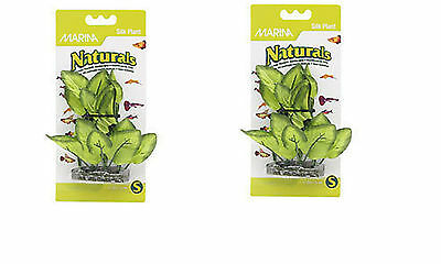 Marina Naturals Green Foreground Plant 5-6 Inches Silk Artifical Plant x2