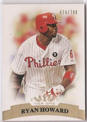 2011 Topps Tier One 1 Base Ryan Howard /799 #66