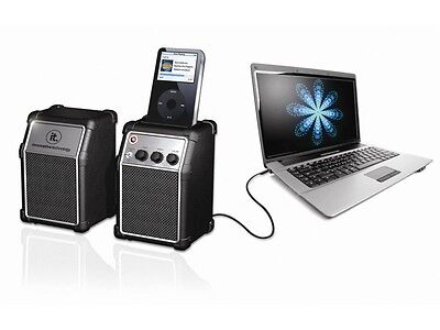 Innovative Technology ITR-300 Rock Series Computer Speakers with MP3 Dock