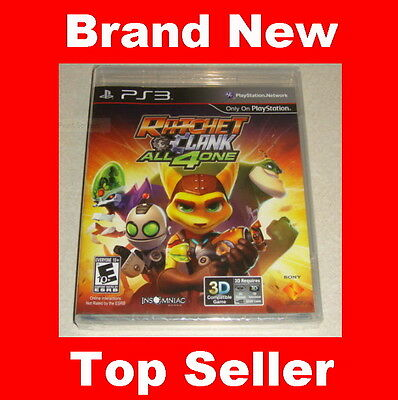 Brand New RATCHET AND CLANK: ALL 4 ONE PS3 Game  (Playstation 3, 2011)