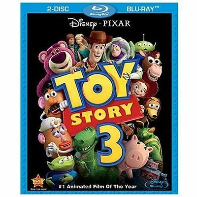 DISNEYS TOY STORY 3 (Blu-ray Disc, 2010, 2-Disc Set) NEW WITH SLEEVE