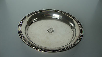 STERLING SILVER wine French PLATE 18th cntry. Plaque de vin d'argent PLATA LEY.