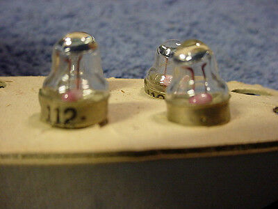 LIGHT BULBS Westinghouse Instrument Lamps # 112 (4) Screw-in Magnified Tips NOS