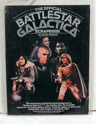 1978 Battlestar Galactica Scrapbook- Softcover Reference with photos  (L5580)