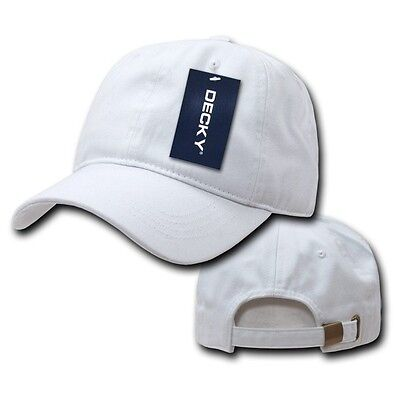 White Solid Blank Two Ply Washed Polo Style Cotton Low Crown Baseball Cap  Hat 5ca7b97f88b8