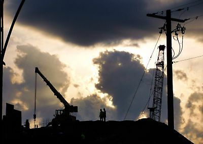 Crane Digital Art Print Optical Illusion Clouds Men Working Astute Photography