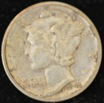 1943 D EXTREMELY FINE Mercury Dime #2