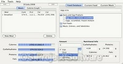 Diet Health Food Nutrition Manager NEW Software Program on CD