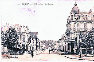 Cpa Romilly Sur Seine Rue Carnot