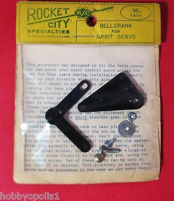 ROCKET CITY Bellcrank for Vintage Orbit Servo (1 assy.): RC Model Airplane Parts