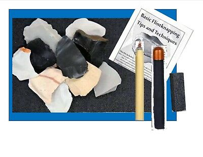 Flint Knapping Kit with Copper Bopper Billet, Upgraded Kit!   Learn to Knap!