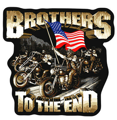 BROTHERS END EMBRODIERED PATCH P3420 biker jacket new bikers novelty sew on iron