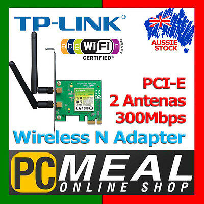 TP-LINK 300Mbps Wireless N PCI Express Adapter TL-WN881ND IEEE 802.11 b/g/n 2T2R