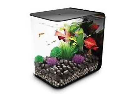 Reef One Biorb FLOW Nano Aquarium Tank 15L Coldwater Including LED Light Black