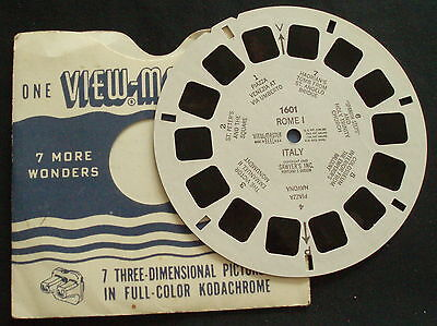 VIEWMASTER # 1601 ROME ITALY I 1949 (view 3 The Victor Emmanuel II Monument)