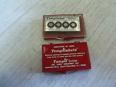 NEW Lot of  20PC Tempilabel Temperature Monitoring Strips 4B-375/191 4B375191