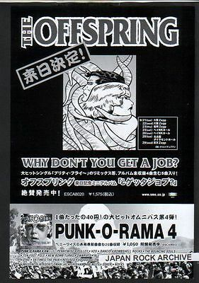 1999 The Offspring JAPAN Tour/album promo ad / mini poster ad / Japanese advert