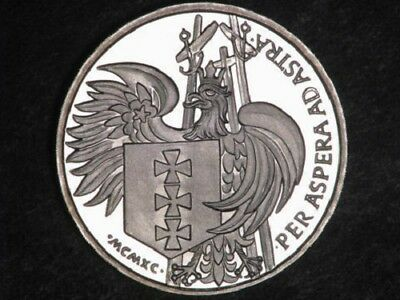 LITHUANIA 1990 Medal Wladyslaw Jagiello Silver Proof#h47