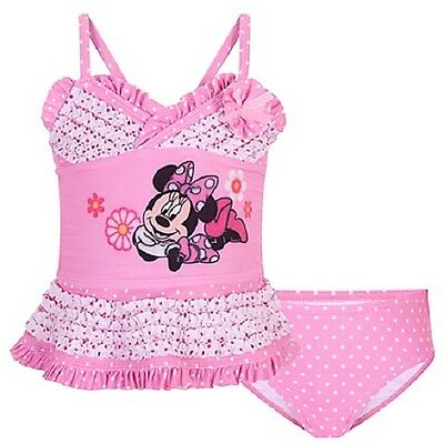 DeLuXe~MiNNiE MoUsE~2pc SWIM SUIT~2T to 4T~Tankini~PiNk~Sparkle~NWT~Disney Store