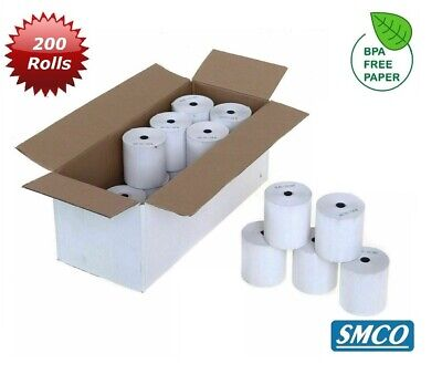 SMCO  Qty 200 CREDIT CARD PDQ Thermal Rolls 57x40  57mm 40mm 12.7mm 57 40 R130