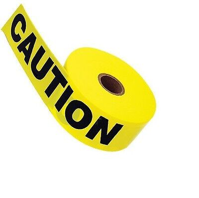 "Yellow Caution Tape 3"" X 1000' CAUTIONTAPE NEW"