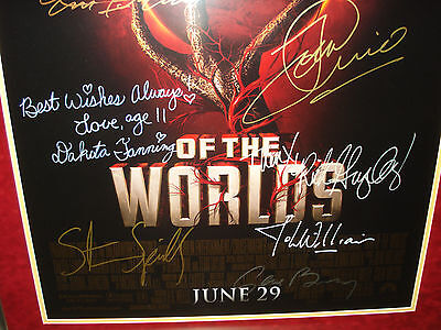 War Of The Worlds~Signed Movie Poster~Signed By Tom Cruise+Steven Spielberg+9