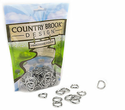 25 - Country Brook Design® 1/2 Inch Welded D-Rings
