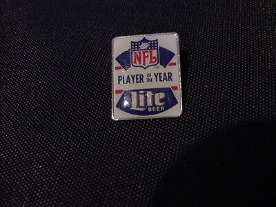VINTAGE Miller Lite Beer NFL Player Of The Year Pin, MINT!!