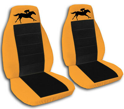 cool set horse racing car seat covers orange/black,OTHER COLORS&BACK AVAILABLE