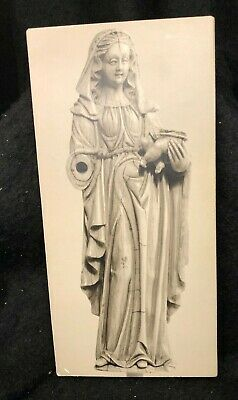 1950's MOUNTED MUSEUM EXHIBIT PHOTO-IVORY MADONNA and CHILD-15thC.-H L VAN PELT