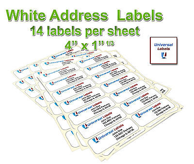 3500 1 1 3 x 4 labels 14 labels per sheet same size as 5162