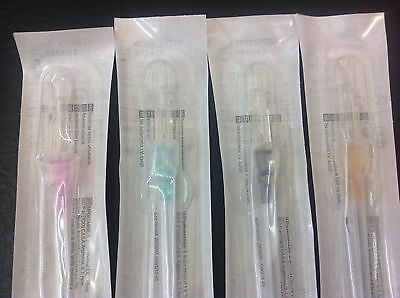 10 BRAUN Cannula BODYPIERCING NEEDLES, YOU PICK , 4 SIZES 20G 18G 16G AND 14ga