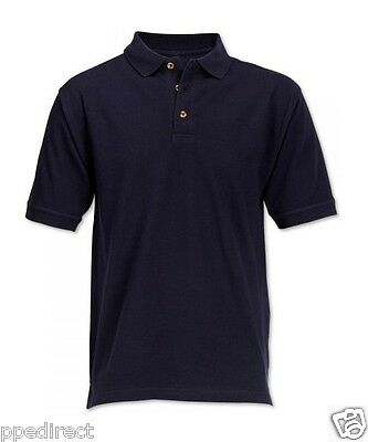 Workwear Polo Shirt 100% cotton - High Quality 220 GSM - Navy Blue - Brand New