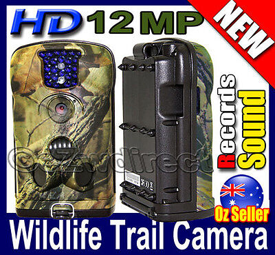 New Latest 12MP Trail Hunting HD video Records Sound security Night Camera 940NM