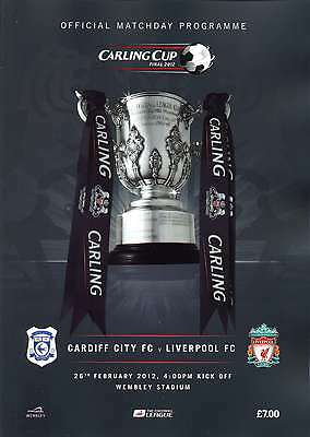 CARLING CUP FINAL 2012 CARDIFF v LIVERPOOL MINT PROGRAMME