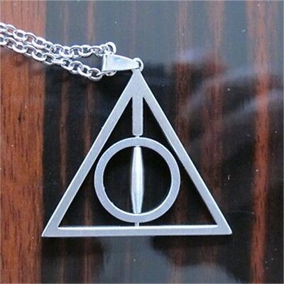 Harry Potter Deathly Hallows Alloy Necklace MIDDLE CIRCLE CAN SPIN