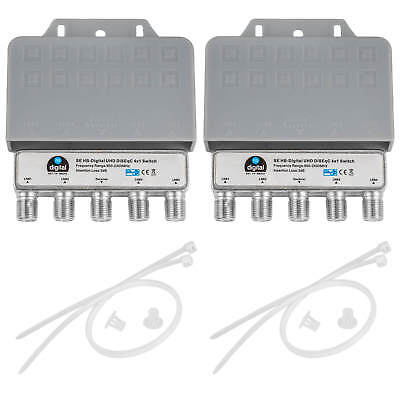 2 x DiSEqC Schalter Switch 4/1 Opticum für 4 Satelitten für DIGITAL HDTV HD+ 3D