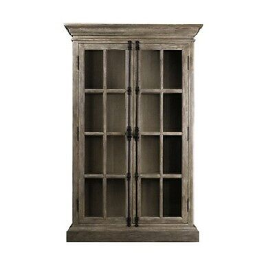 """78"""" Tall Old Casement cabinet Solid oak weathered handmade beautiful classic"""