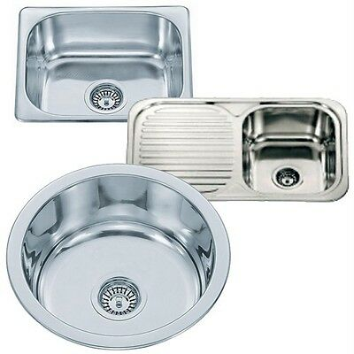 Small Top Mount Inset Stainless Steel Kitchen Sinks With Fittings